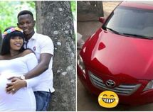 A Yoruba husband gifts his wife a brand new Toyota