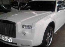 A Mercedes- Benz transformed into a Rolls Royce Phantom