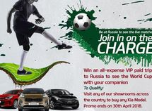 Get a free trip to Russia for World Cup with Kia