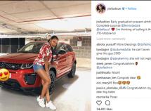 Billionaire Femi Otedola gifts his daughter a brand new Range Rover Evoque