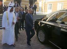 Visiting Russia, Abu Dhabi Crown was astounded at Putin's limo