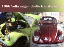 1966 Volkswagen Beetle gets a mind-blowing transformation by a Nigerian man