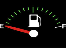 When a car runs out of fuel, which parts get damaged the most?