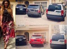 Nollywood voluptuous Daniella Okeke's magnificent car collection