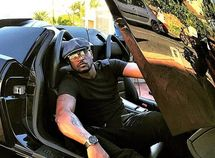Peter Okoye of the PSquare car collection