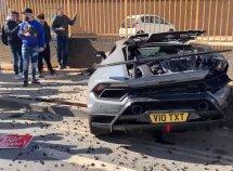 ₦99 million worth of Lamborghini Huracan wrecked at a supercar meet show off