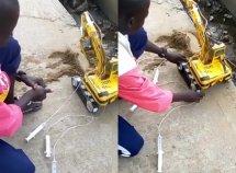 Young Nigerian auto genius builds a mini excavator at 12