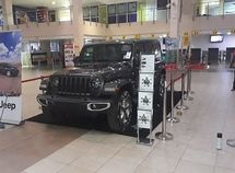 Jeep Wrangler dignified gracefully at the Lagos Airport - a strategy by Kewalram Chanrai group