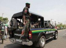Tractor crushed Nigerian police van, leaving 3 policemen severely injured
