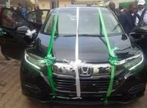 The all-new Honda CR-V assembled in Nigeria has been presented to NADDC