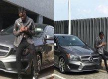 Rapper Lil Kesh gifts himself a new Mercedes Benz