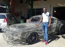 Artist from South Africa built a 1967 Ford Mustang Replica from just wires