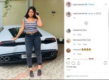 [Photo gallery] Regina Daniels along her husband's supercar collection!