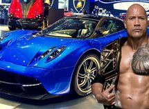 """Muscle luxury! Dwayne Johnson """"The Rock"""" crazy car collection"""
