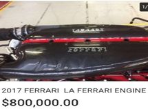 A ₦290m LaFerrari Hypercar engine is put up for sale on eBay