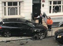 CCTV captures a ₦442m car crash when Audi smashed Porsche, Bentley and other supercars