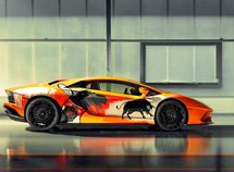 Want another expression for Art? Try this artistic Lamborghini Aventador S!