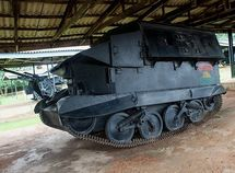 Relics of self-made armored vehicles by Biafran soldiers in Nigerian Civil War