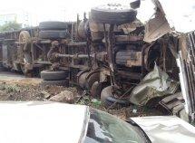 Car crash between Toyota HiAce bus & DAF Trunk claims 17 lives in Kwara
