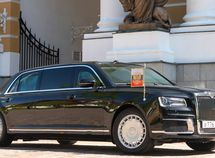 Listen to the brake sounds of Putin's Aurus limo as he enters Turkey in style!