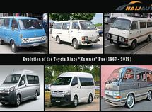 """Look back Toyota HiAce """"Hummer"""" Bus 52-year evolution since 1967"""