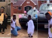 Ghanaian billionaire Shatta Bandle gifts his bouncer ₦10.8 Dodge Challenger