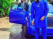 Singer Kcee wears outfit matching E-money's Rolls-Royce