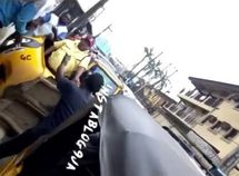 Agitated Keke riders toss LASTMA officer around in Lagos (watch video)