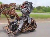 Alien sighted on Lagos-Ibadan highway with creepy bike