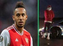 Arsenal caption Pierre-Emerick crashes his ₦126m holographic Lamborghini on way home