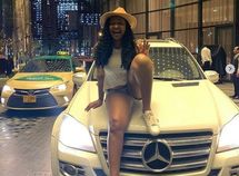 Replying to a DM on Insta, actress Etinosa is gifted a Mercedes-Benz