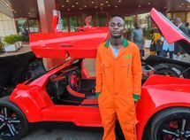 Nigerian builds luxury car with carbon fiber body!