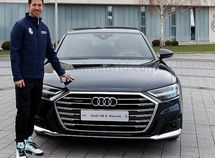 Real Madrid first squad receives Christmas car presents from sponsor Audi