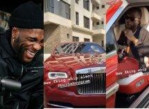 Burna Boy acquires a sparkling Rolls Royce Dawn convertible worth ₦125 million!