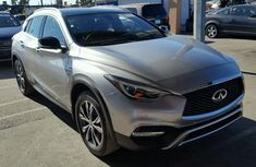 2014 INFINITI QX30 BASE; PREMIUM SALVAGE SILVER FOR SALE