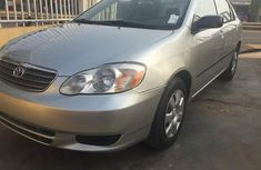 Foreign used Toyota corolla 2005 silver