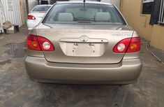 Foreign used Toyota corolla 2005 gold for sale