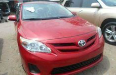Foreign used Toyota corolla 2010 red