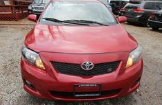 Nice and foreign 2010 Toyota corolla Red for sale