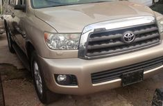 Clean Toyota Sequoia 2008 Gold for sale