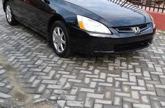 Leather interior 2004 Honda Accord Blue for sale