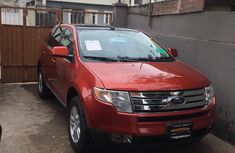 Clean Ford Edge SEL 2008 Orange For Sale