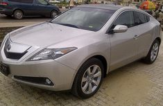 Neat Acura Zdx silver 2011 for sale
