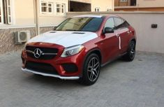 Neat Mercedes Benz GLE450 red 2015 For sale