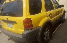 Clean Ford Escape 2002 Yellow For Sale