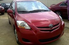 Clean Toyota Yaris 2007 Red for sale with full auction