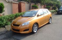 Clean Toyota Matrix 2008 Orange for sale