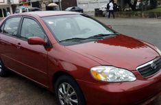 Foreign used Toyota Corolla 2006 red for sale