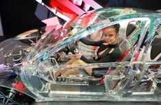 The world's first transparent car premiered in Germany