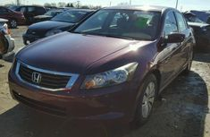 Honda Accord 2009 Red model for sale at an affordable price.